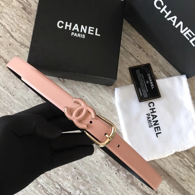 Chanel Original Calf leather Belt 56989 pink