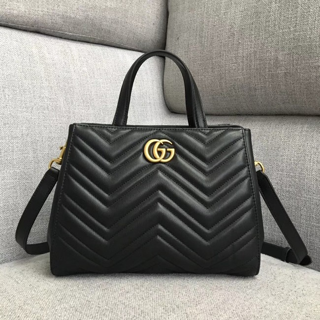 Gucci GG Marmont small top handle bag 448054 black