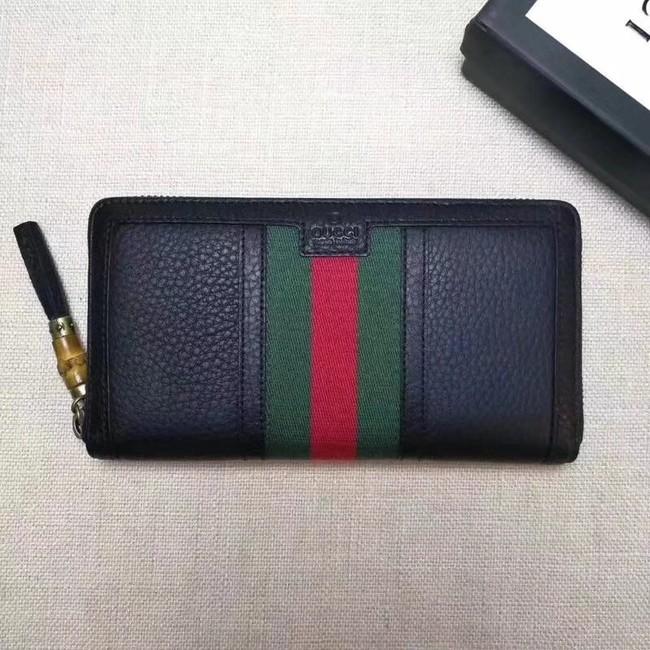 eb9410039ab Gucci Leather zipper wallet 353651 black - $129.00