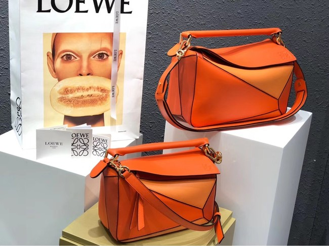 Loewe Puzzle Bag Original Leather B9124 orange