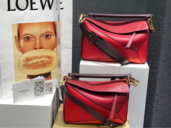 Loewe Puzzle Bag Original Leather B9124 red