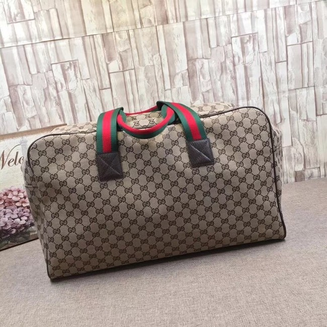 e50a4746a9cf Gucci GG Supreme canvas Travelling bag 146310 brown