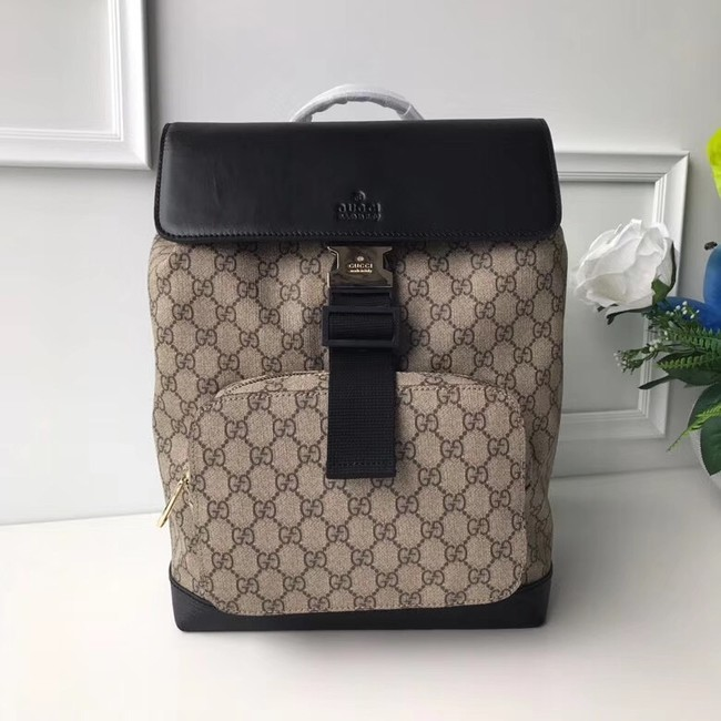 GUCCI GG Canvas Backpack 406398 black