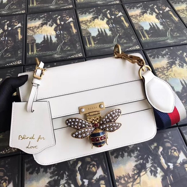 Gucci Queen Margaret small shoulder bag 476542 white