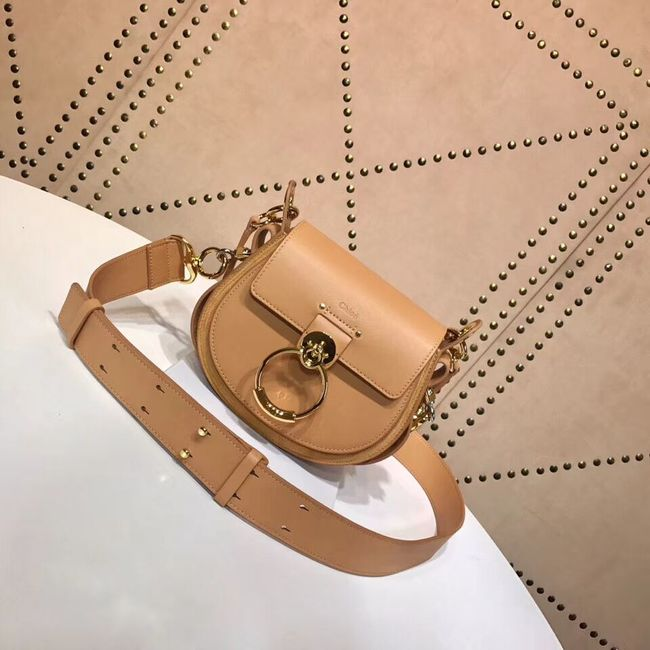 CHLOE Tess Small leather shoulder bag 3E153 apricot