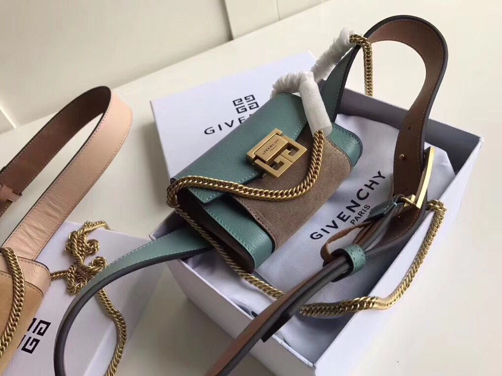 Givenchy 2018 GV3 Nano Belt Bag G89546 Green