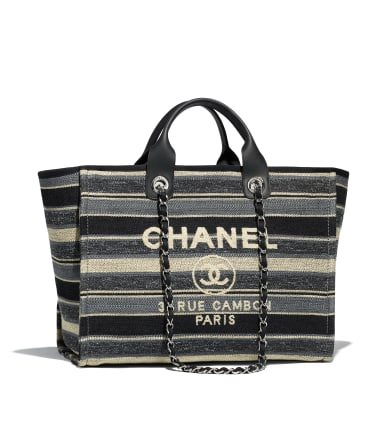 Chanel Shopping Bag Original A66941 Gray& Dark Gray & Black