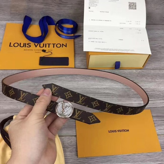 Louis Vuitton CIRCLE 20MM REVERSIBLE BELT M0053UB pink