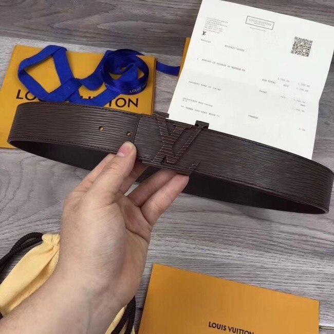 Louis Vuitton INITIALES 40MM BELT M0035S dark brown