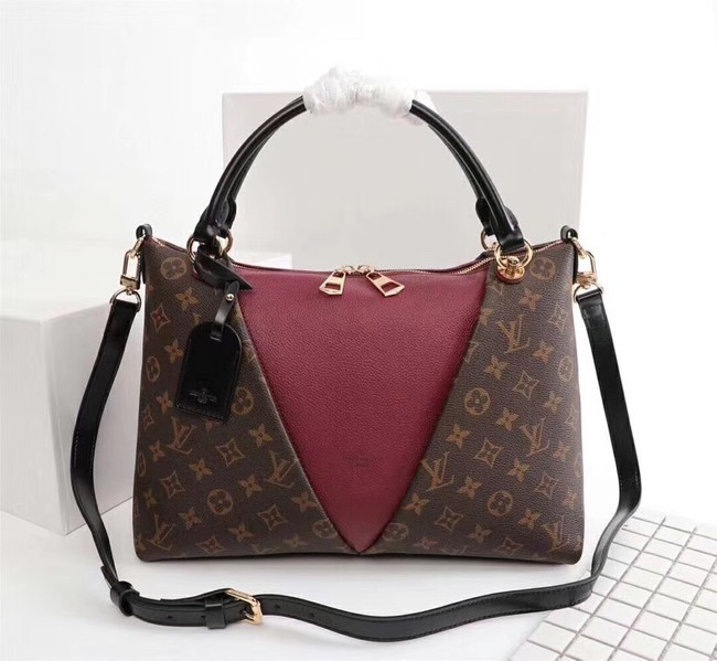 Louis Vuitton V TOTE MM M43949 Bordeaux Red