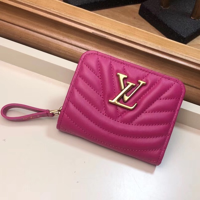 LOUIS VUITTON NEW WAVE COMPACT WALLET M63789 Peach red