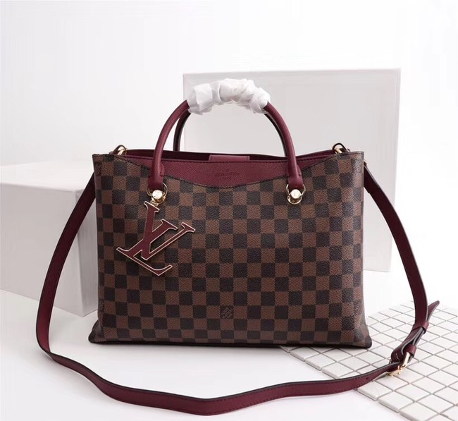 Louis Vuitton Damier Ebene Canvas RIVERSIDE M55040 fuchsia