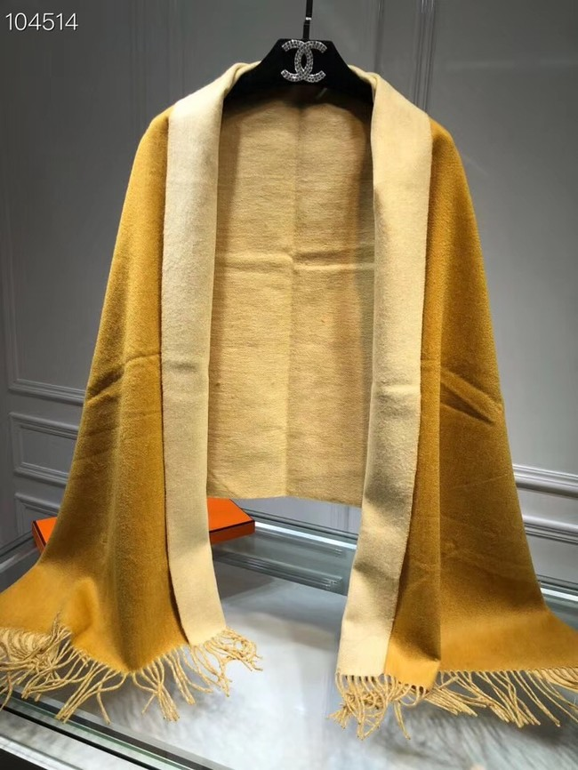 Hermes lambswool & cashmere Shawl 71151 yellow