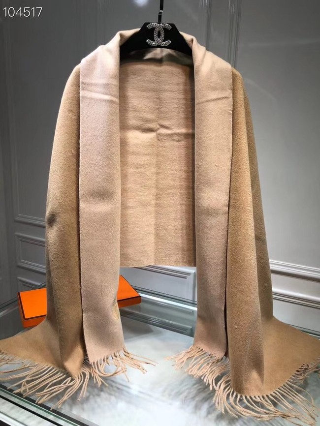 Hermes lambswool & cashmere Shawl 71151 Camel