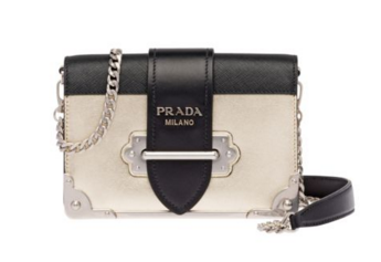Prada Cahier calf leather bag 1BH018 gold