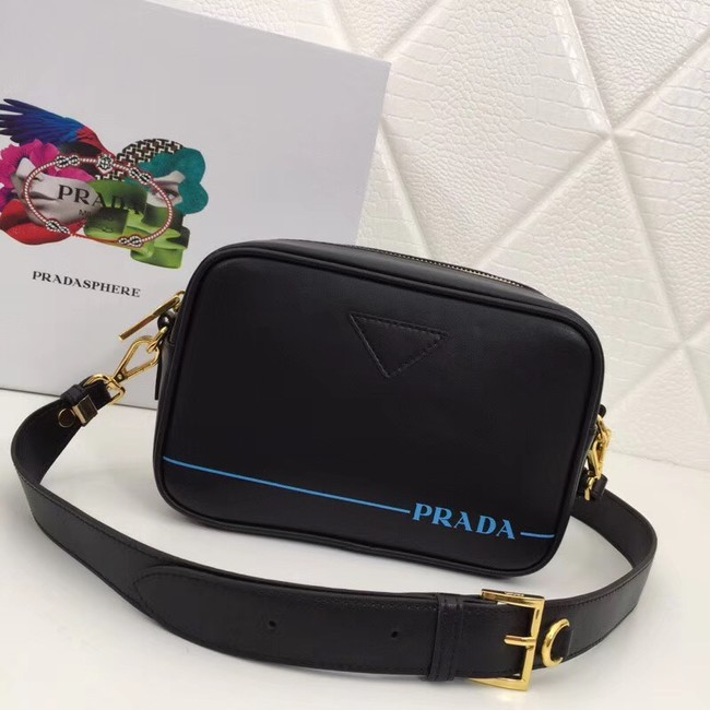 Prada Leather shoulder bag 1BH093 black