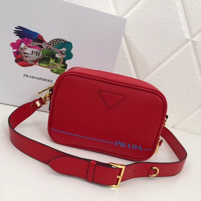 Prada Leather shoulder bag 1BH093 red