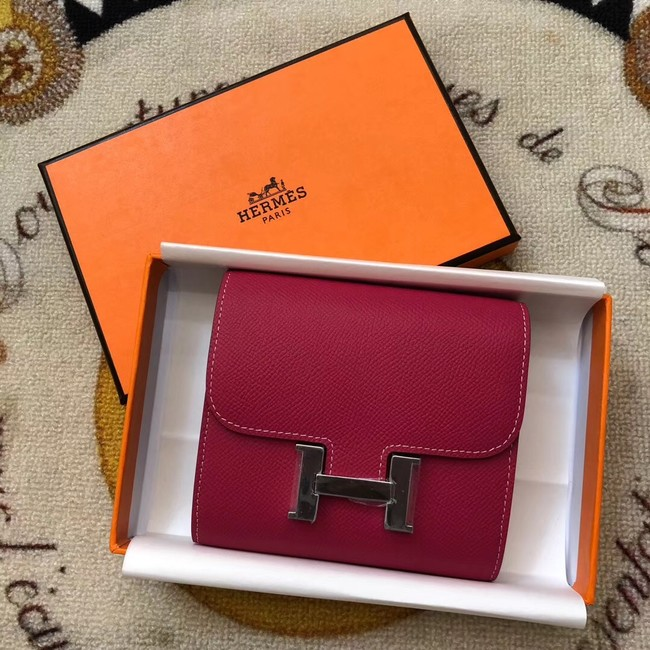 Hermes Constance Wallets espom leather H2297 red