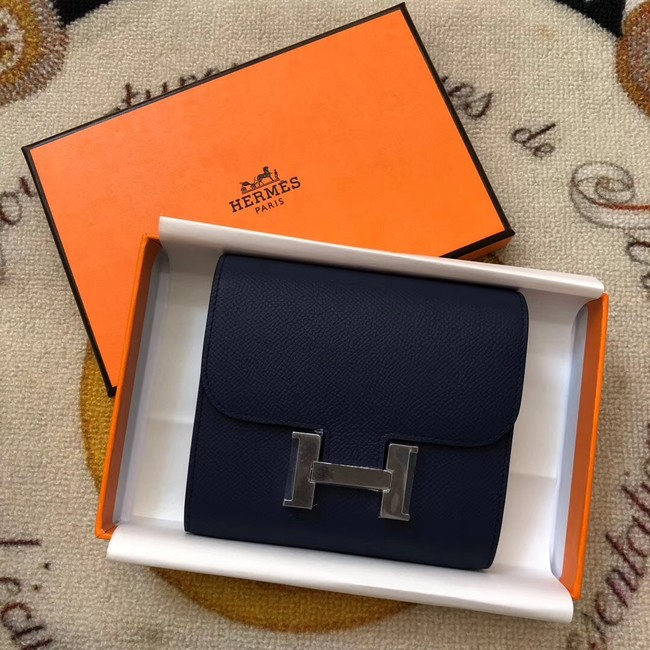 Hermes Constance Wallets espom leather H2297 Royal Blue