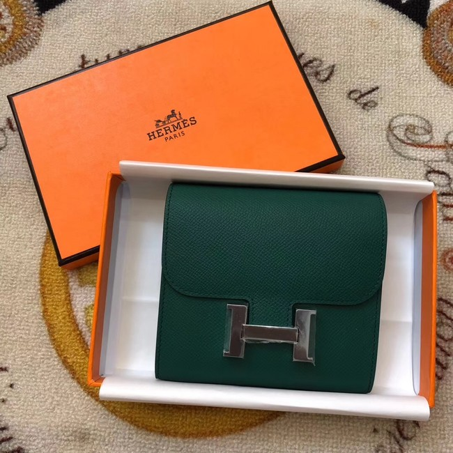 Hermes Constance Wallets espom leather H2297 green