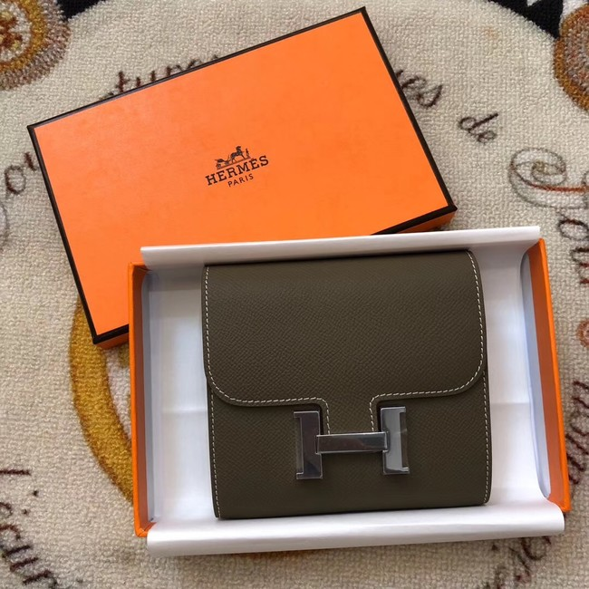 Hermes Constance Wallets espom leather H2297 grey