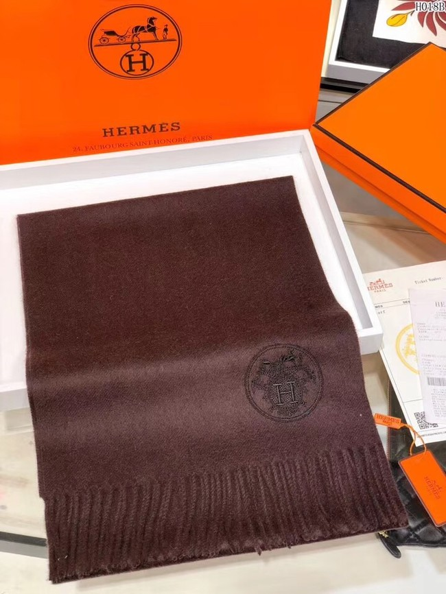 Hermes Cashmere scarf H2599 brown