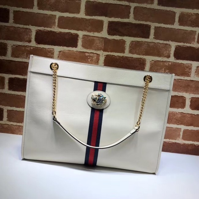Gucci Rajah large tote 537219 white