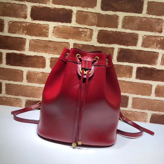 Gucci medium bucket Backpack 550189 red