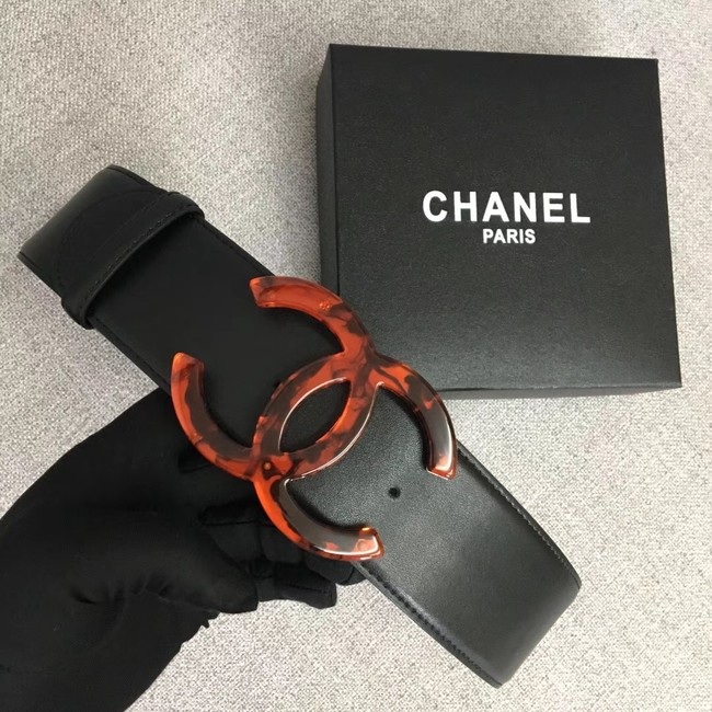 Chanel Wide leather belt with 53 mm CC4266 black