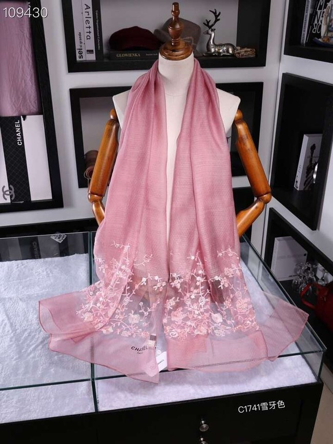 Chanel Cashmere Scarf CH1110B pink