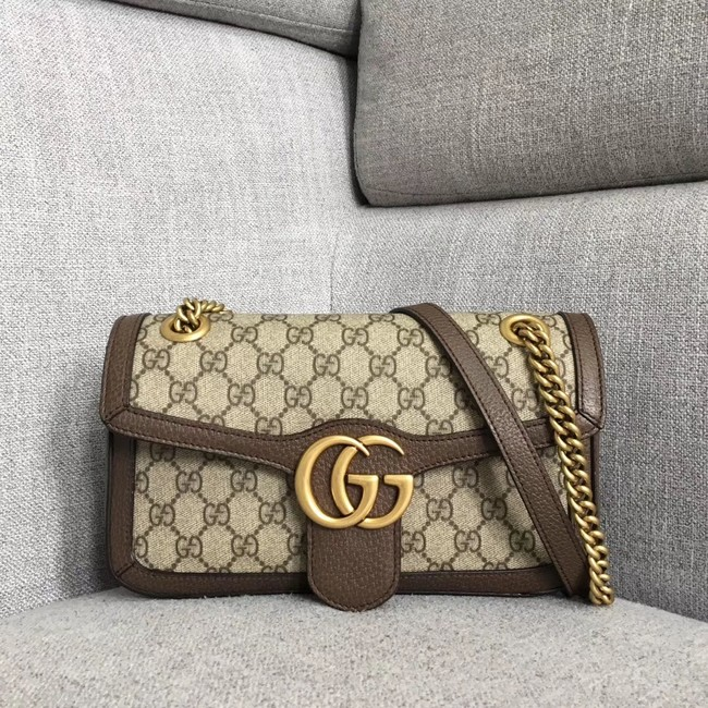 Gucci Ophidia GG Supreme small shoulder bag 443497 brown