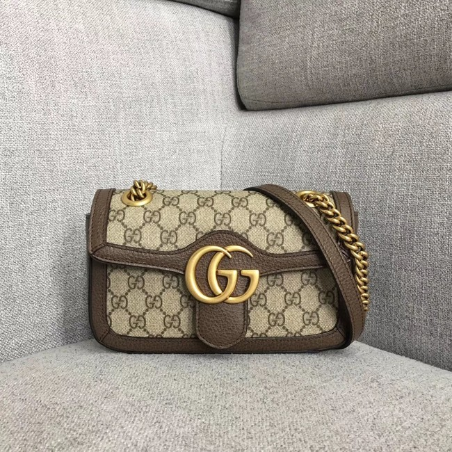 Gucci Ophidia GG Supreme small shoulder bag 446744 brown