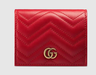 Gucci GG Marmont card case 466492 red