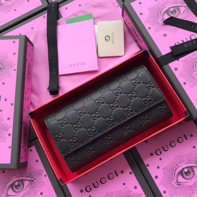 Gucci Calf leather Wallet 410100 black