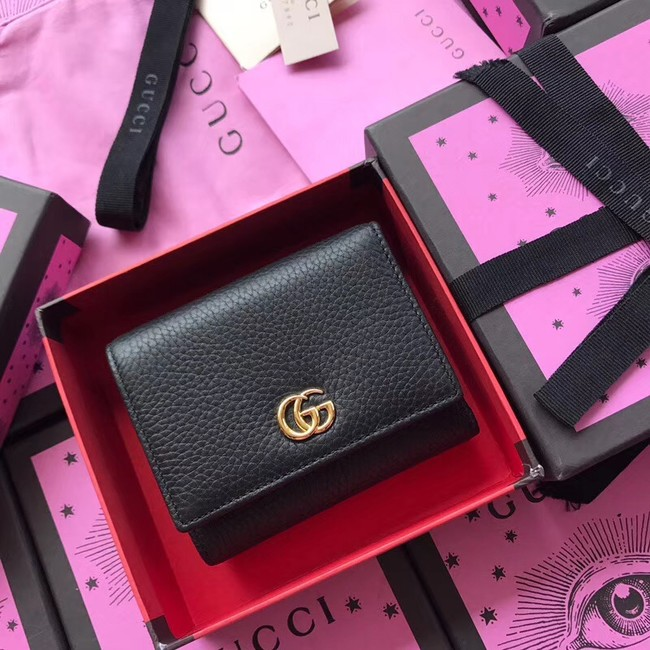 Gucci GG Marmont card case 474746 black