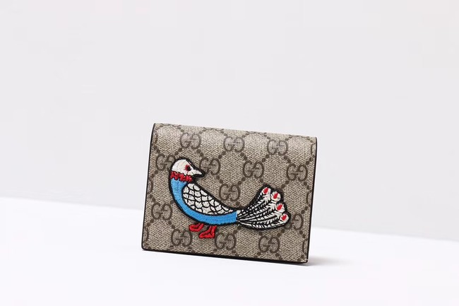 Gucci Ophidia GG card case 456866 bird