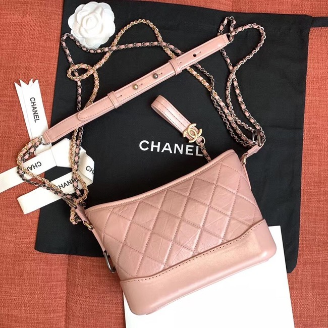 chanel gabrielle small hobo bag A91810 light pink