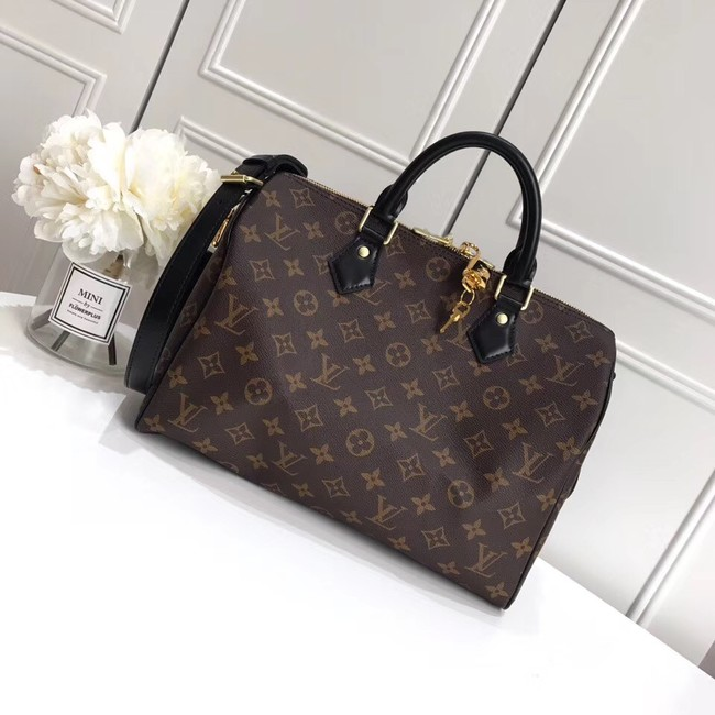 Louis vuitton original SPEEDY BANDOULIERE 30 M41112 black