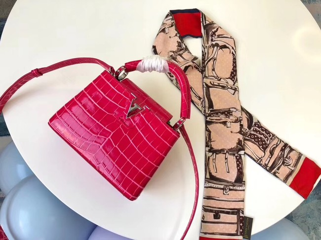Louis vuitton original crocodile CAPUCINES PM M94587 rose
