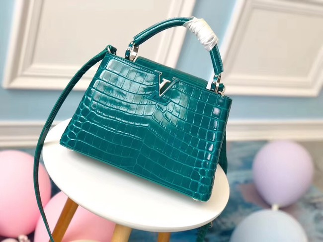 Louis vuitton original crocodile CAPUCINES PM N93163 green
