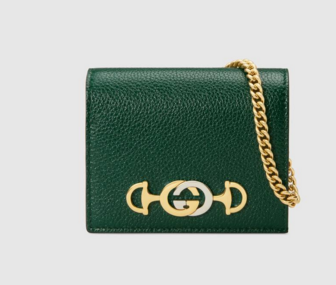 Gucci Zumi Card Holder 570660 green
