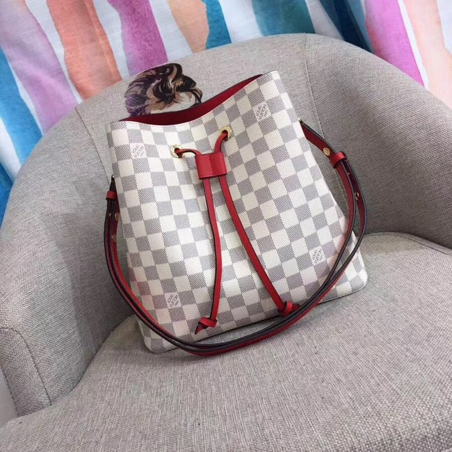 Louis vuitton original Damier Azur NEONOE N44022 red