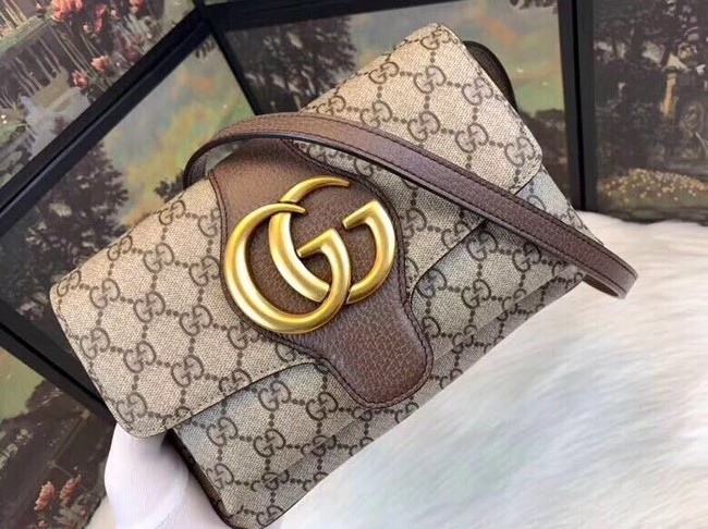 Gucci Ophidia GG Supreme small shoulder bag 550129 brown