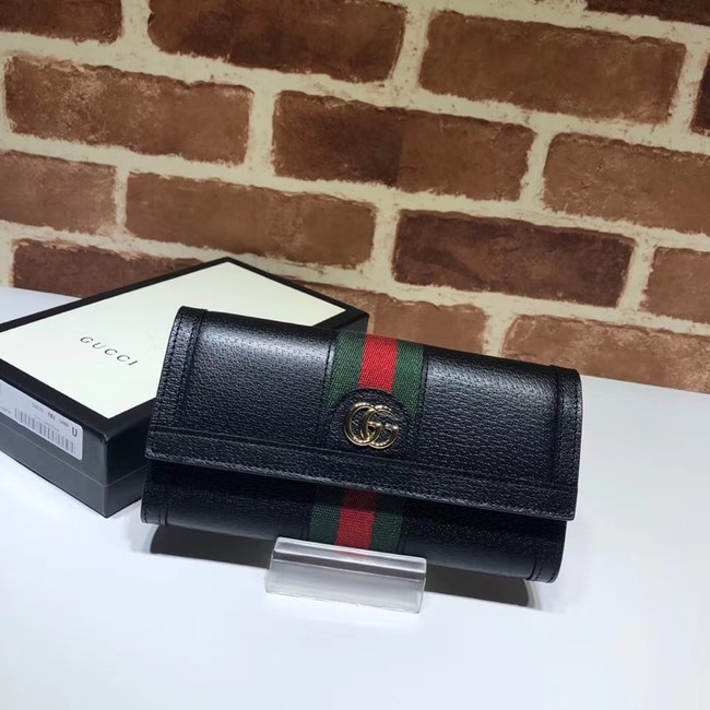 Gucci Ophidia leather wallet 523153 black