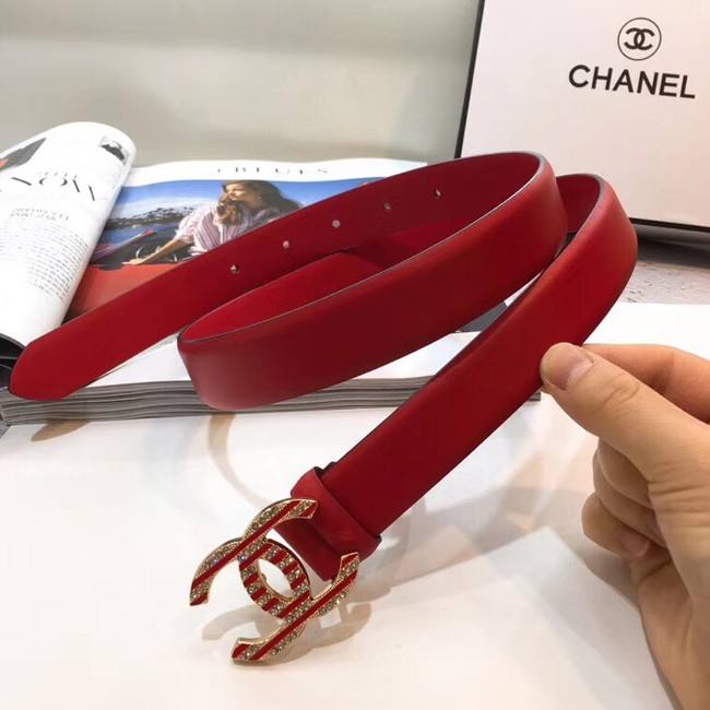Chanel Calf Leather Belt Wide with 30mm 56596
