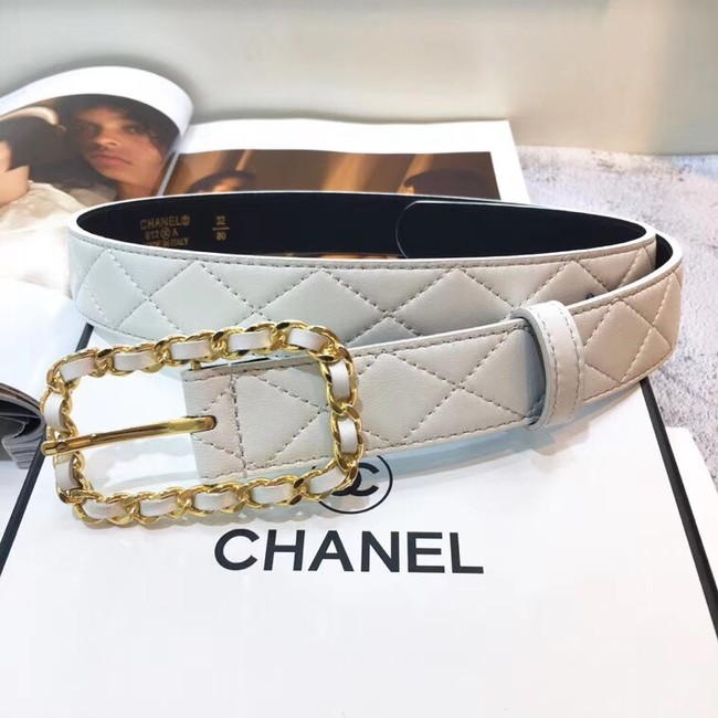Chanel Calf Leather Belt Wide with 30mm 56598