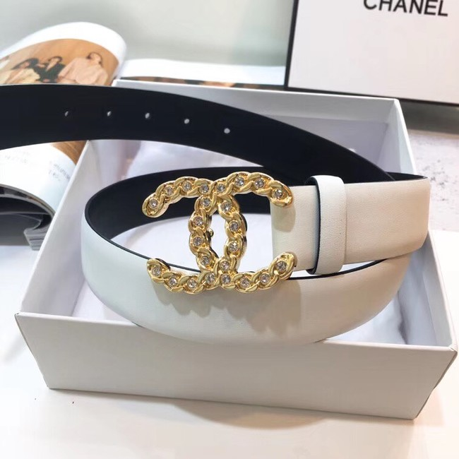 Chanel Calf Leather Belt Wide with 30mm 56601