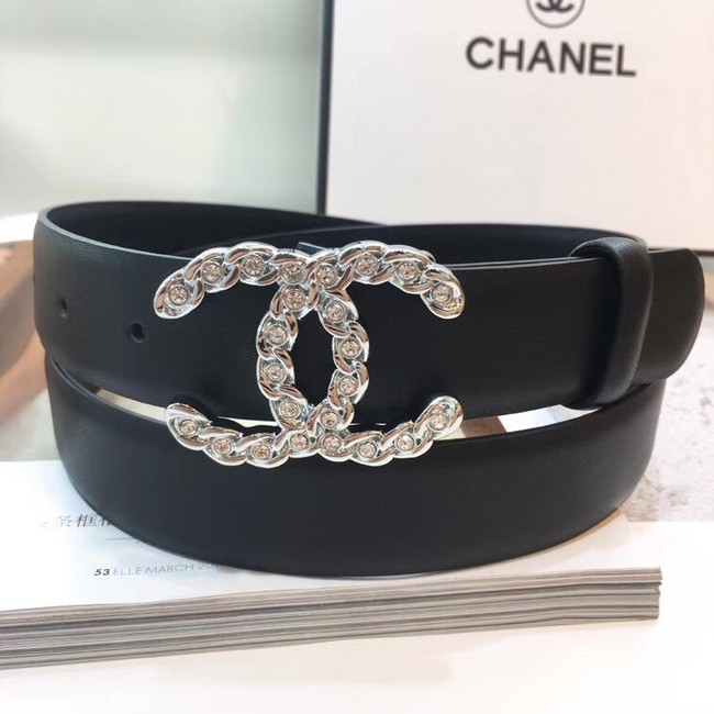 Chanel Calf Leather Belt Wide with 30mm 56604