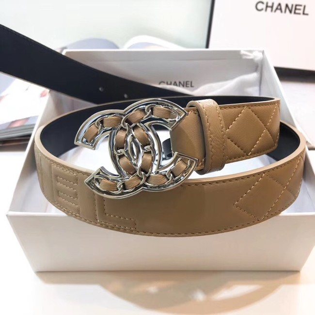 Chanel Calf Leather Belt Wide with 32mm 56606