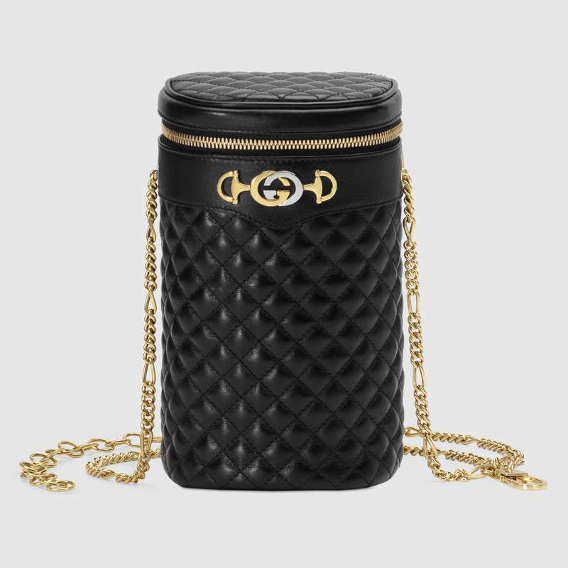 Gucci Quilted leather belt bag 572298 black